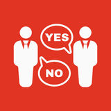 The dispute icon. Dialog and  negotiation, discussion symbol. Flat. Vector illustration Stock Image