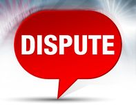 Dispute Red Bubble Background royalty free illustration
