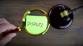 Dispute. Litigation, disagreements, mediation and fair trial concept