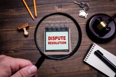Free Dispute Resolution. Lawyers, Litigation, Law And Justice Concept Royalty Free Stock Image - 161323206