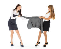 Dispute in shop. Royalty Free Stock Photography