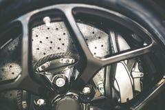 Disque aéré de frein de voiture Photo libre de droits