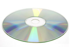 Disque cd sur le fond blanc, cd-r, cd-RW d'isolement Image stock