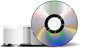 Disque compact avec la caisse CD Image stock