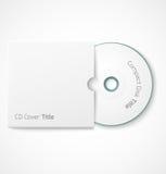 Disque compact blanc vide avec la moquerie de couverture  Photographie stock