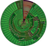Disque cybernétique photo libre de droits