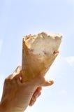 Disque de bonbon à cône de crême glacée Photo stock