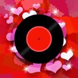 Disque de chanson d'amour Image stock