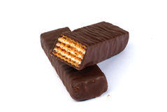 Disque de chocolat Images stock