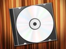 Disque de Dvd sur le bureau en bois Images libres de droits