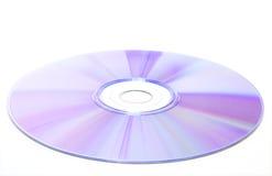 Disque de DVD sur le fond blanc Photo stock