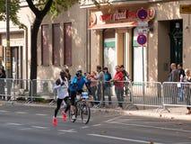 Disque de Kenyan Runner Kipchoge Running World chez Berlin Marathon 2018 photographie stock