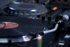Disque de phonographe et plaque tournante photos libres de droits