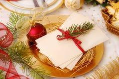 Disque de réveillon de Noël Images libres de droits
