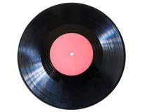 Disque de vinyle avec le label rouge photo libre de droits