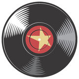 Disque de vinyle de vecteur Images libres de droits