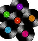 Disque de vinyles différent Photographie stock libre de droits