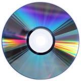Disque du CD/DVD d'isolement sur le blanc Photographie stock