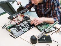 Disque dur de mémoire de technologie de mise à jour d'ordinateur portable photo stock