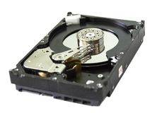 Disque dur de PC HDD 3 5' SATA photographie stock libre de droits