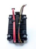 Disque dur de SATA, unité de disque dur avec la parenthèse et câble Photos stock