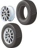 Disque et pneu Photos stock