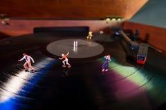 Disque miniature de patineurs de rouleau photo libre de droits