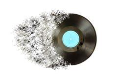 Disque noir d'album de lp d'enregistrement de vinyle Images libres de droits