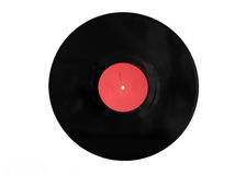 Disque noir de vinyle sur le fond blanc Images libres de droits