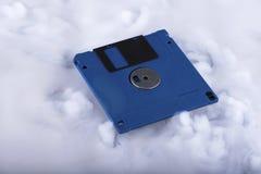 disque souple bleu de disque Rétro et démodé Photographie stock libre de droits