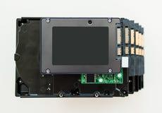 Disque transistorisé au-dessus de HDD Images stock