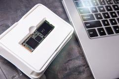 Disque transistorisé moderne M de NVMe commande 2 emballée dans une boîte d'usine Photos stock
