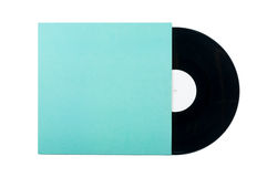 Disque vinyle avec le cache photographie stock