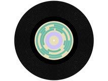 Disque vinyle coloré de musique Images libres de droits