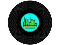 Disque vinyle coloré de musique images stock