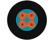 Disque vinyle coloré de musique Photographie stock