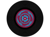 Disque vinyle coloré de musique Image stock