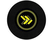 Disque vinyle coloré de musique Photographie stock libre de droits