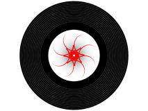 Disque vinyle coloré de musique Photos libres de droits