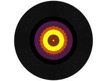 Disque vinyle coloré de musique photo libre de droits