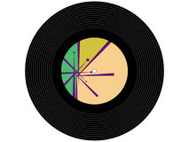 Disque vinyle coloré de musique Image libre de droits