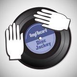 Disque vinyle de jockey de disque Photographie stock libre de droits