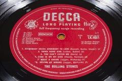 Disque vinyle de Rolling Stones Image stock