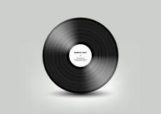 Disque vinyle noir d'isolement sur le fond blanc, vecteur Image stock