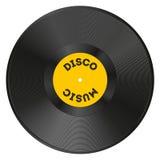 Disque vinyle réaliste avec la disco Image libre de droits