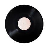 Disque vinyle sur un blanc isolat Photographie stock