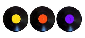 Disque vinyle sur un fond blanc Photographie stock