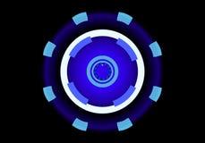 Disques au néon de la science fiction, fond abstrait, illustration 3d Images libres de droits