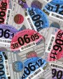 Disques BRITANNIQUES de taxe routière Photographie stock libre de droits