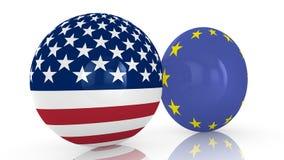 Disques d'amitié d'UE des Etats-Unis illustration stock
